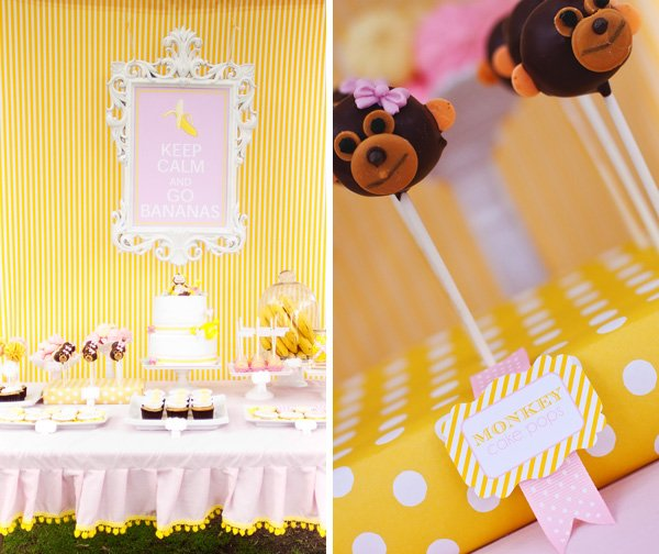 Dessert Table and Monkey Cake Pops