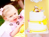 "Little ""Monkey"" Charlie and her Adorable Cake"