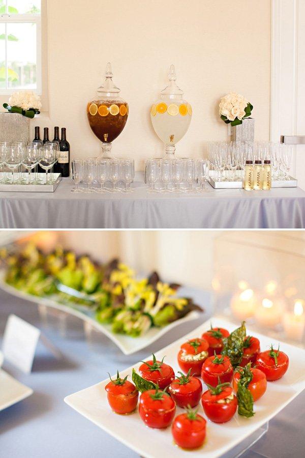 Drink Table + Food