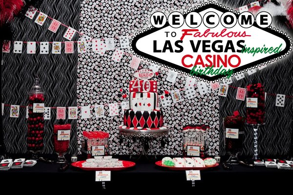 Las Vegas Style Casino 40th Birthday Party Hostess with the Mostess