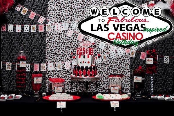 Las Vegas Casino Birthday Party Dessert Table
