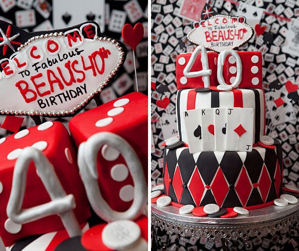 Las Vegas Style Casino 40th Birthday Party // Hostess With
