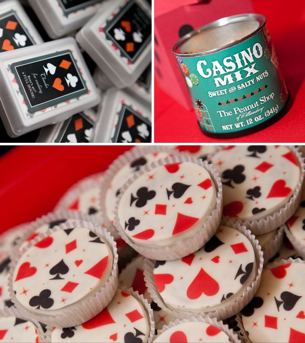 Casino Party Themed Favor Nuts And Matching Cookies