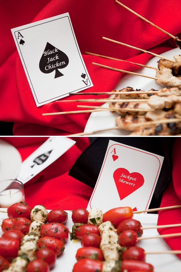 "Yummy Food and Adorable ""Playing"" Place Cards"