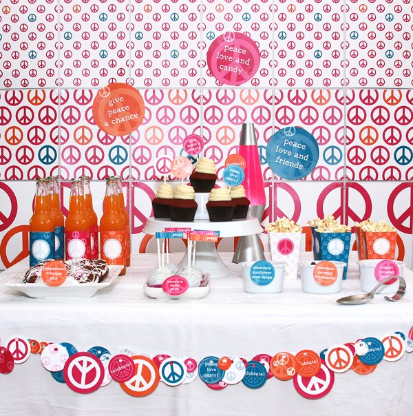Peace Love Valentine Birthday Party Ideas