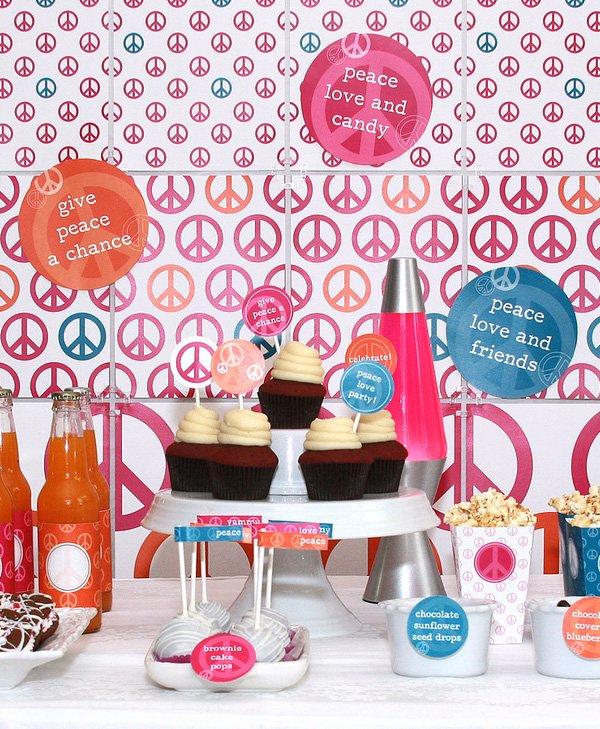 Peace Love Valentine Birthday Party Ideas