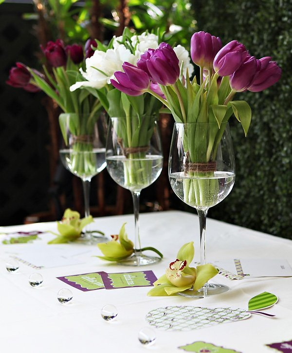 Purple and Green Party Wedding Ideas