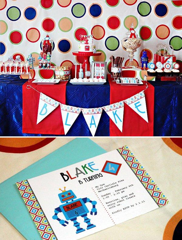 Modern Robot Birthday Party Ideas