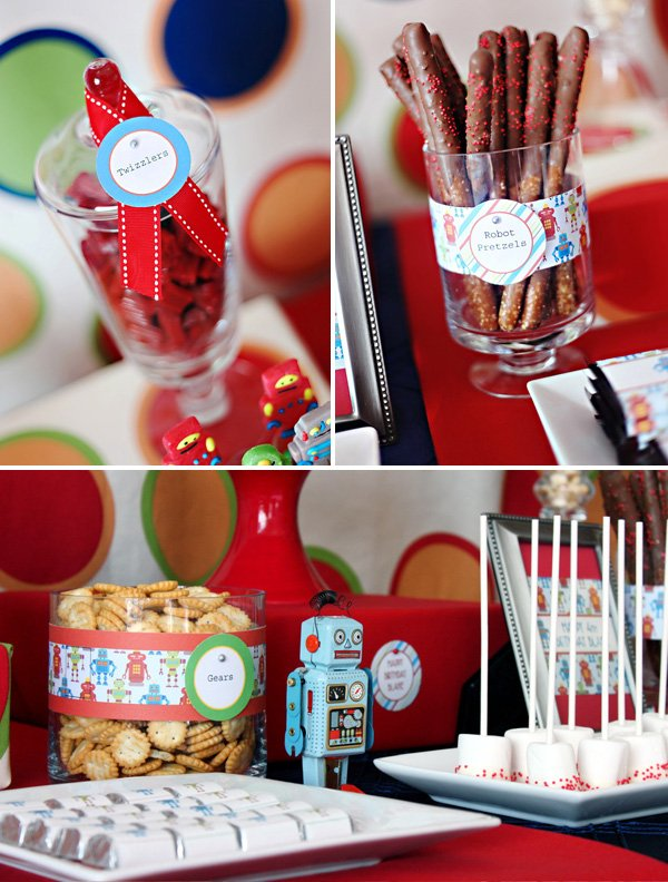 Modern Robot Birthday Party Ideas