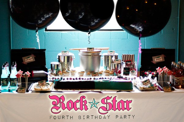 Rock Star PArty Dessert Table