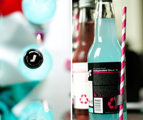 Custom Jones Soda + Strip Straws