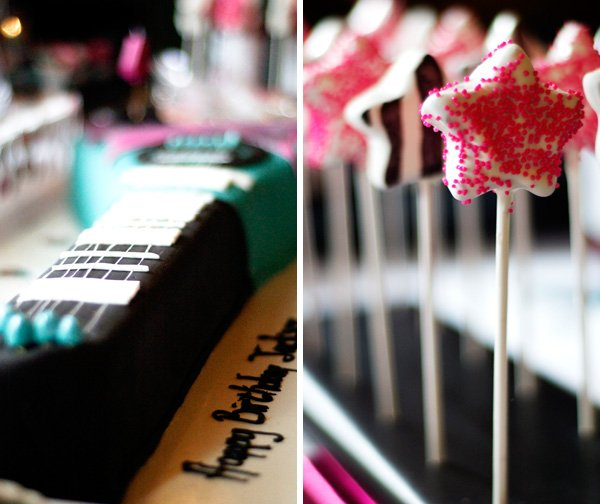 Guitar Cake + Cake Pops