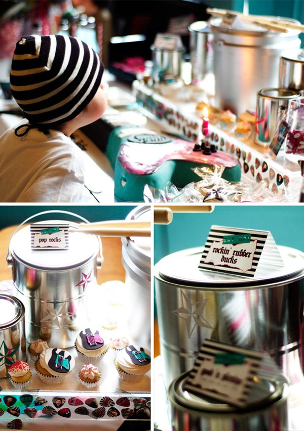 Dessert Table + Drum Set Buckets