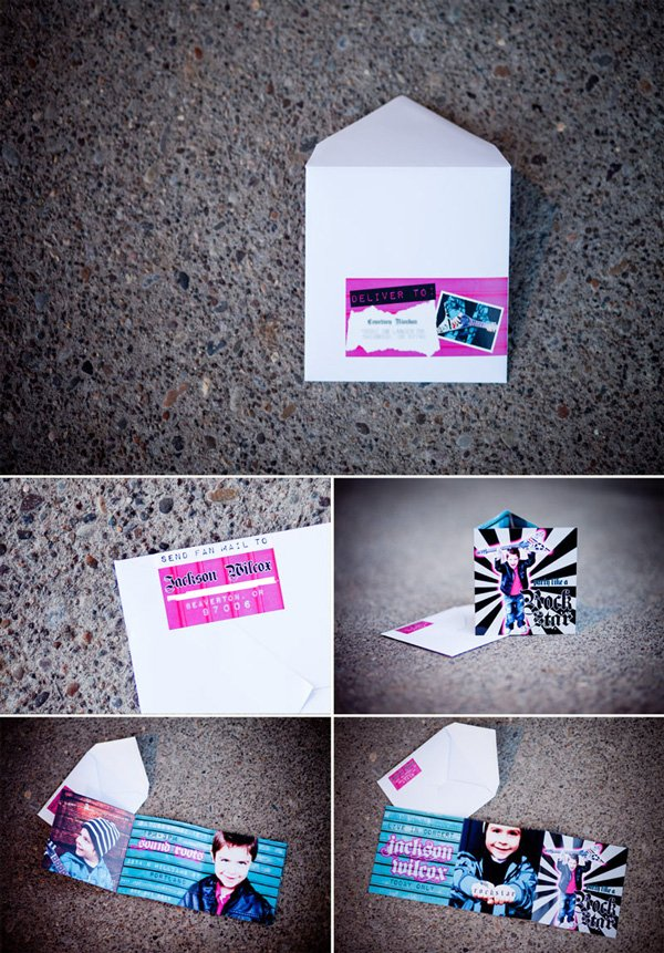 Invitation + Wrap Around Label