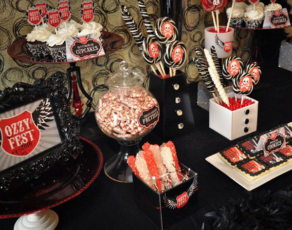 Rockstar Themed Dessert Table