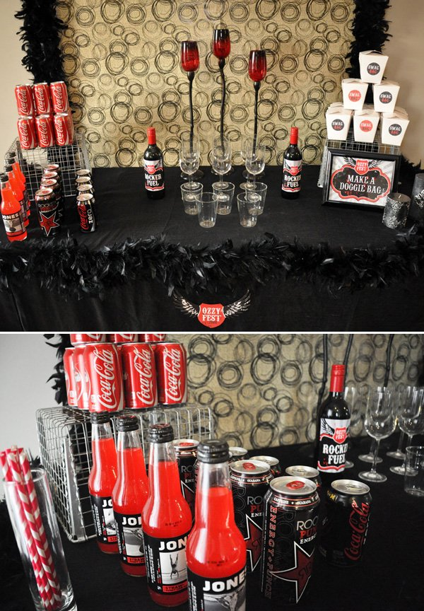 Rockstar Drink Table
