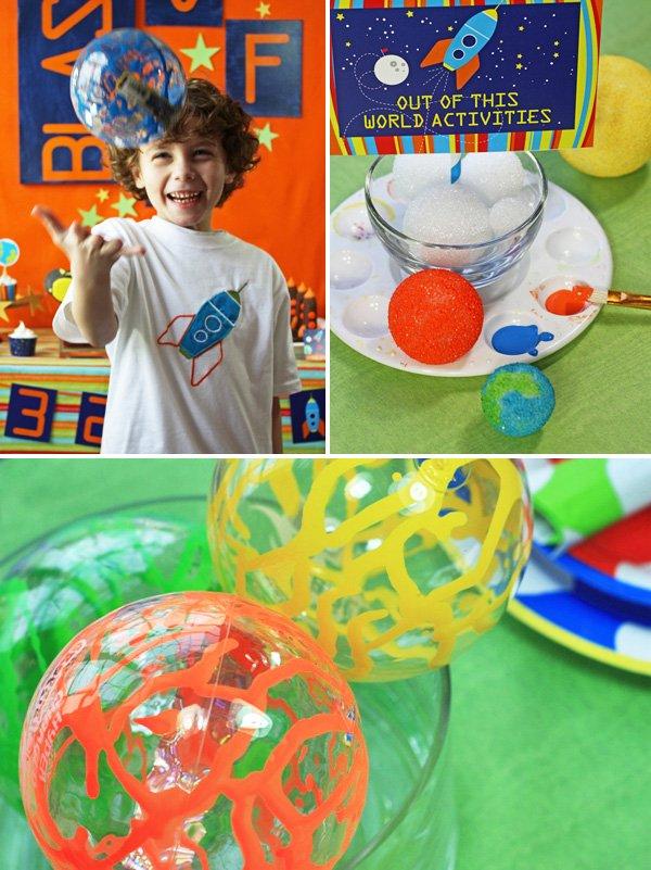 space birthday party theme