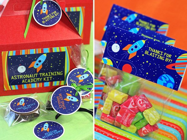 space birthday party theme
