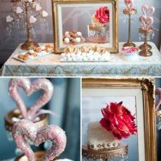 Victorian Valentine's Day Dessert Table