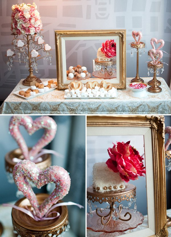 Victorian Valentine's Day Dessert Table