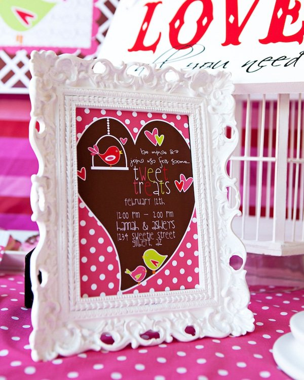 Sweet Tweet Love Birds Valentine's Day Party