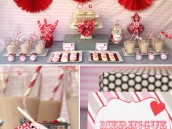 Pink & Red Valentine's Day Dessert Table