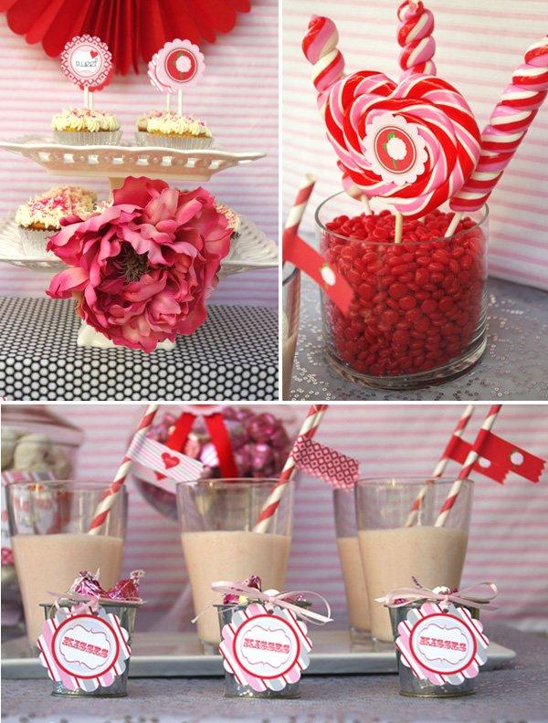 Pink & Red Valentine's Day Dessert Table