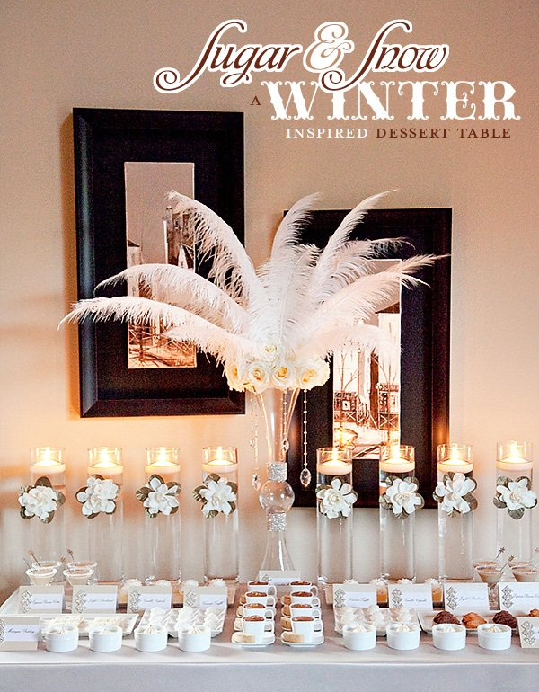 Winter White Dessert Table Ideas