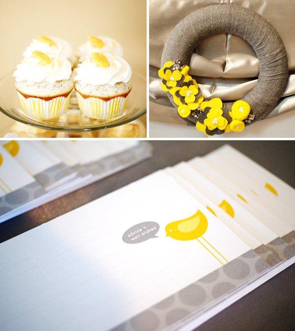 "Cupcakes, Felt Wreath, and ""Tweet"" Notes"