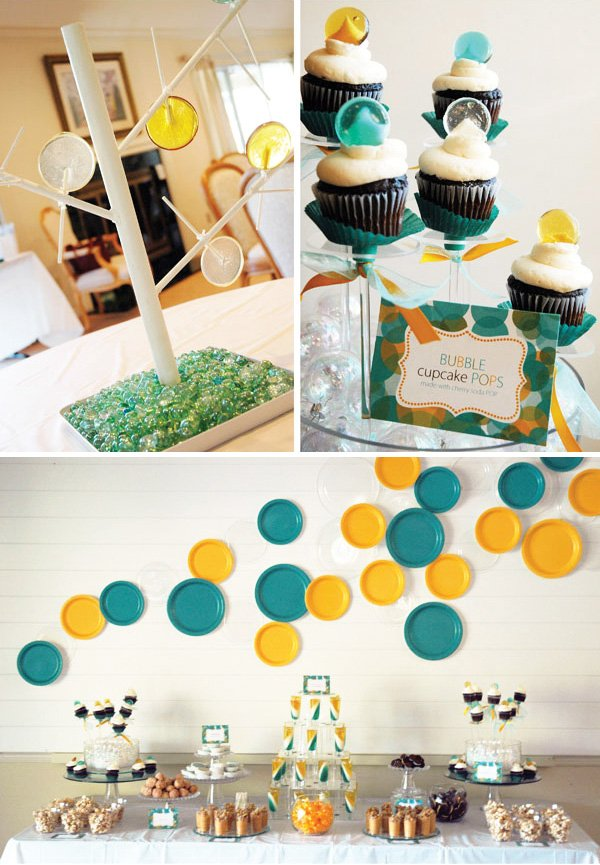 "Baby Shower Ideas Creative modern & creative ""bubbles"" baby shower // hostess with the mostess®"