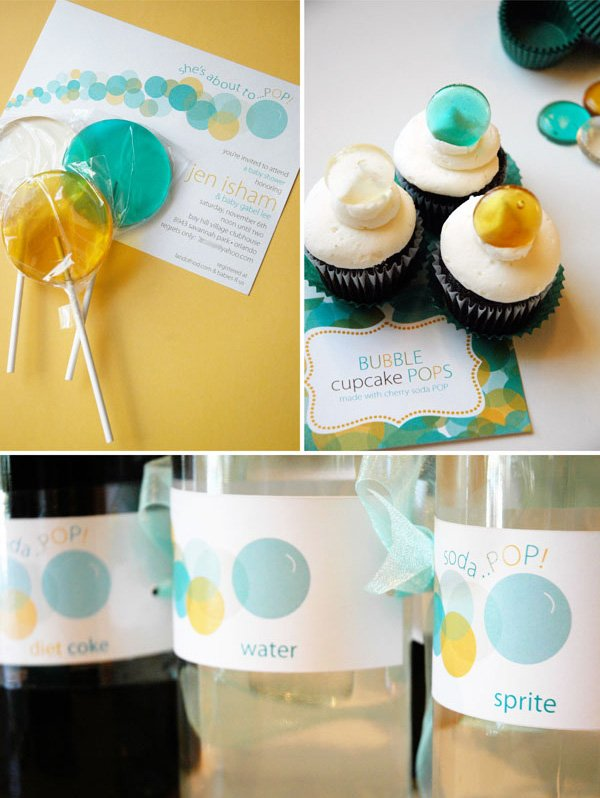 Bubbles Baby Shower Decor