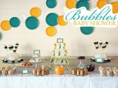 Bubbles Baby Shower Dessert Table