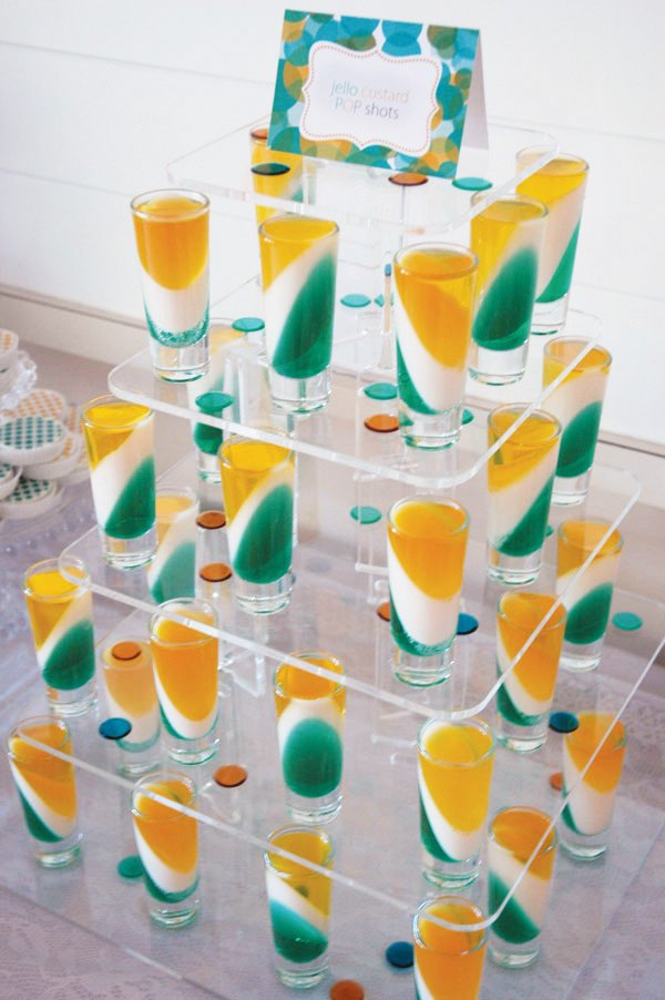Jello Custard POP Shots Dessert Tower