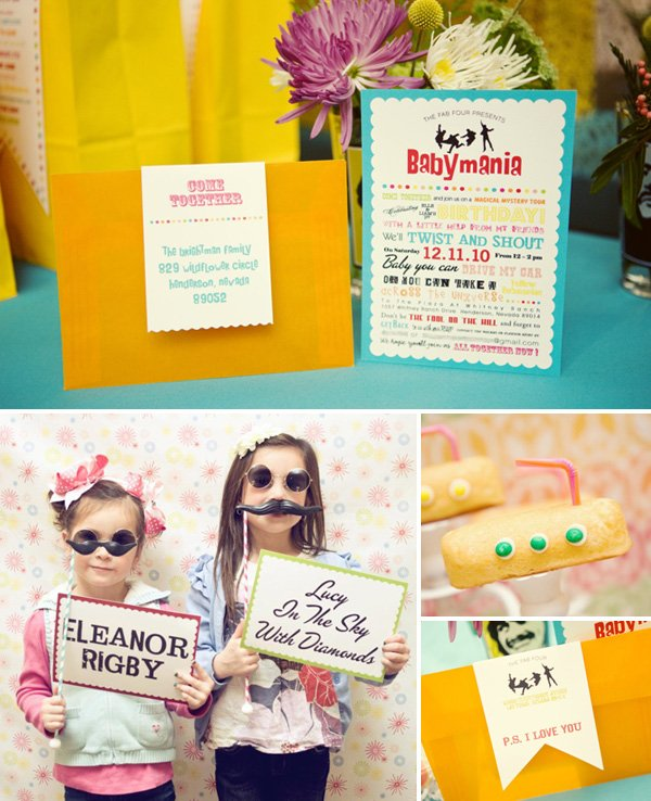 Beatles Themed Birthday Party Ideas