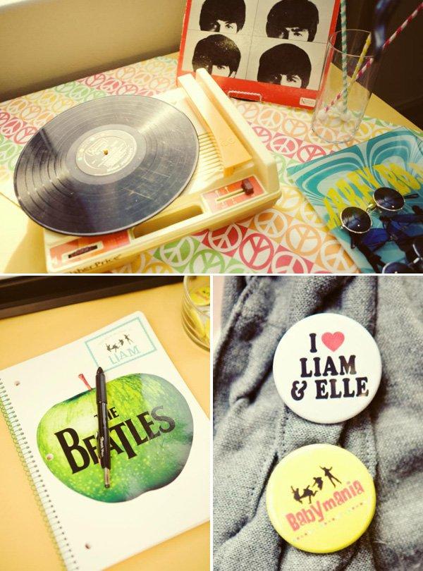 Beatles Themed Birthday Party Ideas