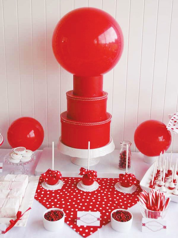 classic red ball birthday party