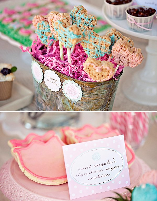 flower garden birthday party ideas