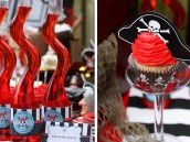 pirate birthday cupcakes and juice