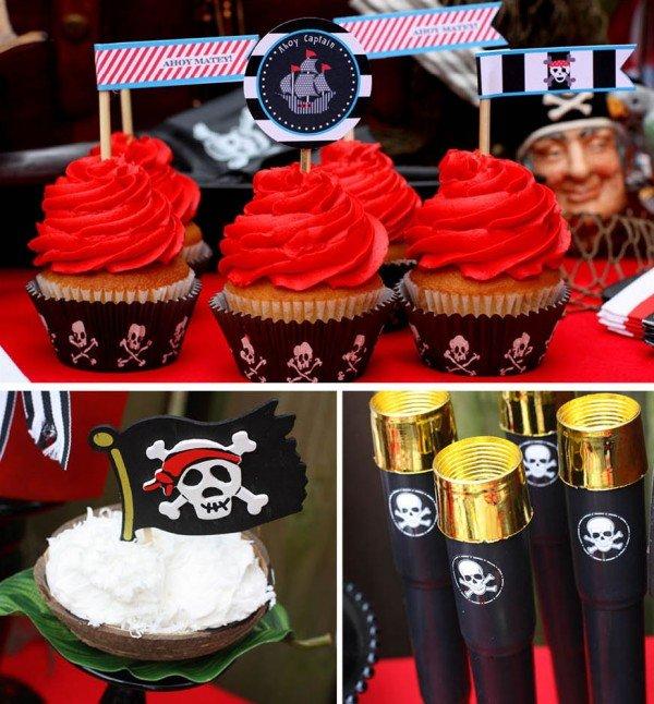 birthday party pirate cupcakes