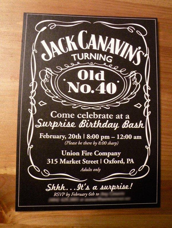 Jack Daniel's party graphics