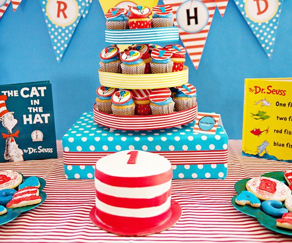 Whimsical Dr Seuss Inspired Birthday Party Hostess with the Mostess
