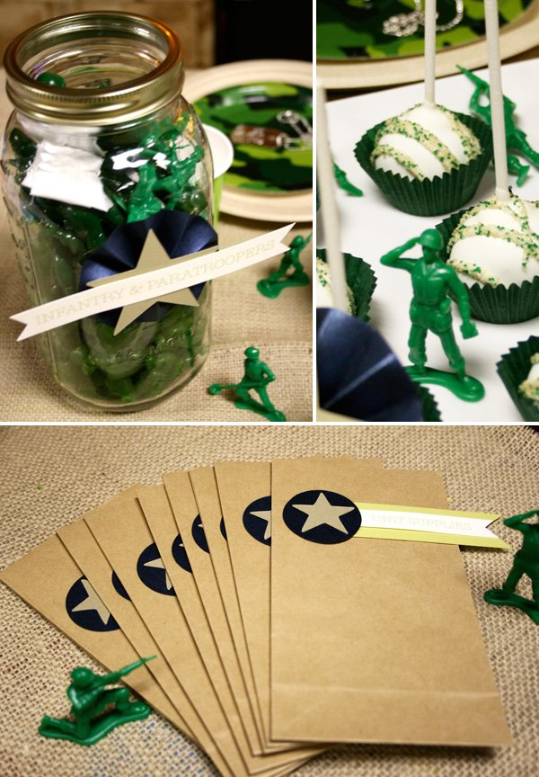 green army men themed birthday party hostess with the