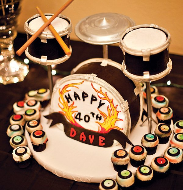 Peachy Drum Set Cake Heavy Metal Themed Party Hostess With The Mostess Personalised Birthday Cards Veneteletsinfo