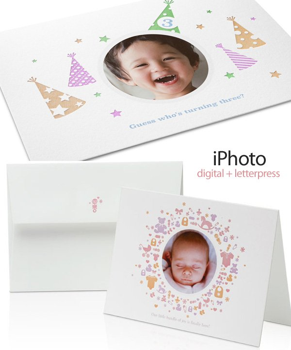 iPhoto Letterpress Cards