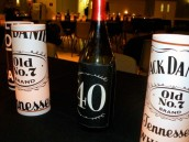 Jack Daniel's custom wine labels and candles