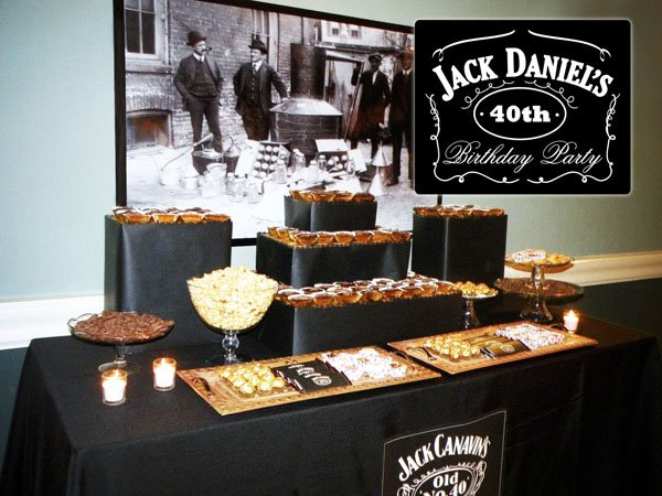 Jack Daniel's Dessert Table