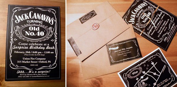 Jack Daniel's invitation and graphics