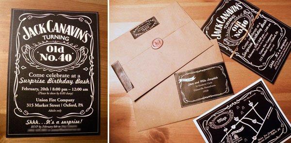 Jack Daniel's invitation and graphics