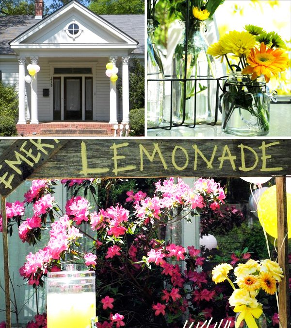 Adorable Lemonade Stand and decor