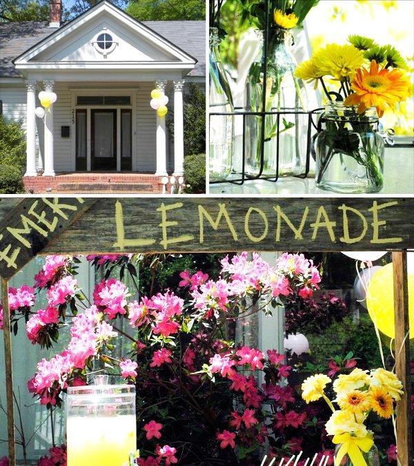 Adorable Lemonade Stand and decor